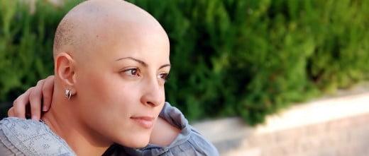 Mujer diagnosticada de cáncer