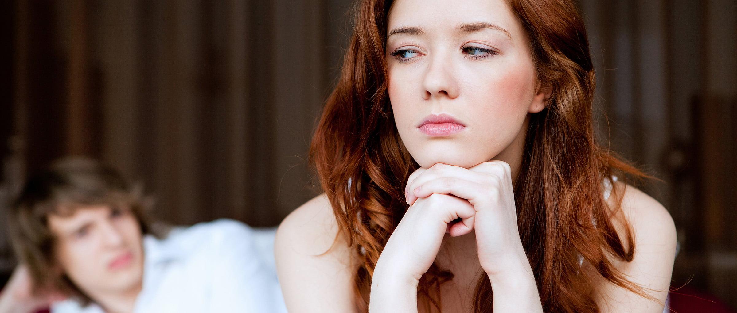 Pareja deprimida en reproducción asistida