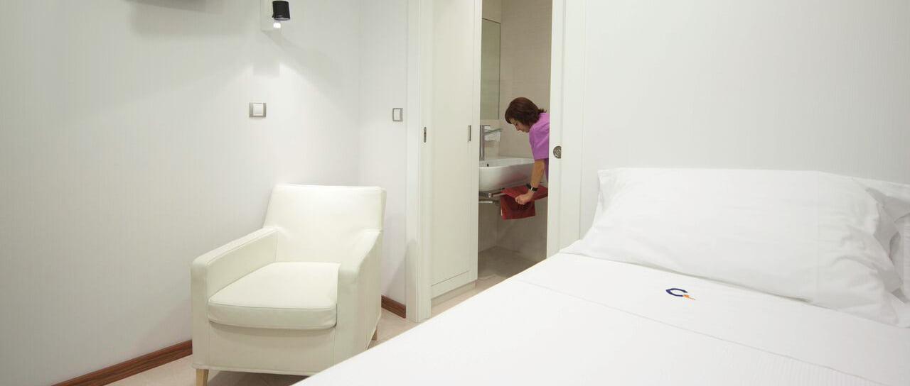 Habitaciones para las pacientes