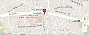 Hospital General Universitario de Valencia mapa