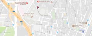 Hospital Universitario de Canarias mapa