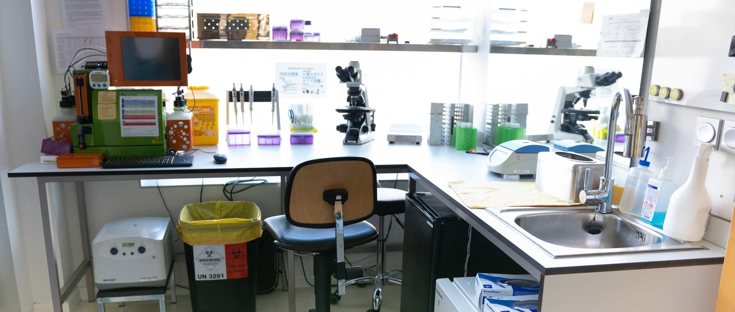 Laboratorio de andrología de IVF-Spain