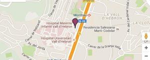 Mapa Hospital Vall d'Hebron