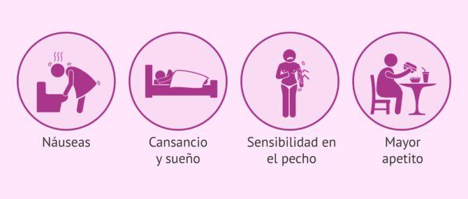 sintomas de una mujer embarazada en el primer mes