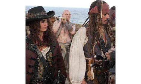 Penélope Cruz rodó embarazada en Piratas del Caribe