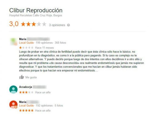 Imagen: Opiniones de Clibur Reproducción