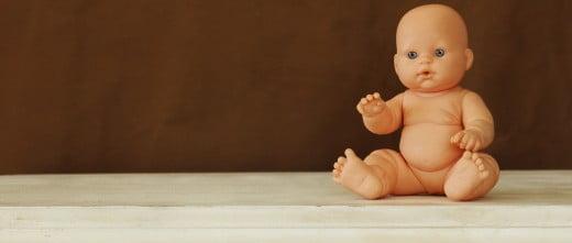 Muñeco como bebé