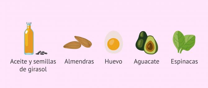 Imagen: Alimentos ricos en vitamina E