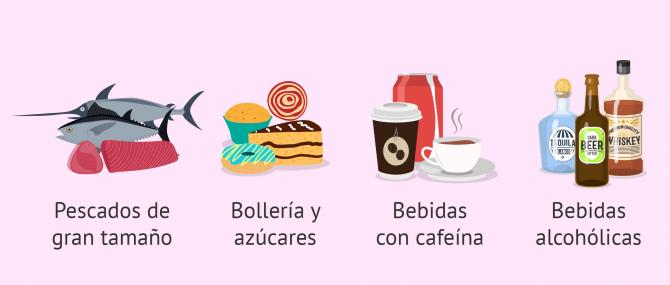 Imagen: Alimentos que deben evitarse durante la lactancia