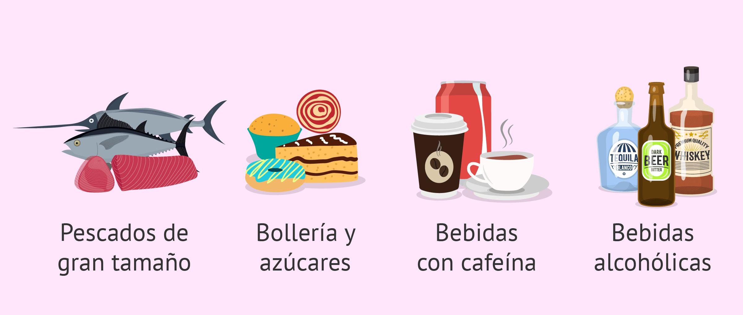 Alimentos que deben evitarse durante la lactancia