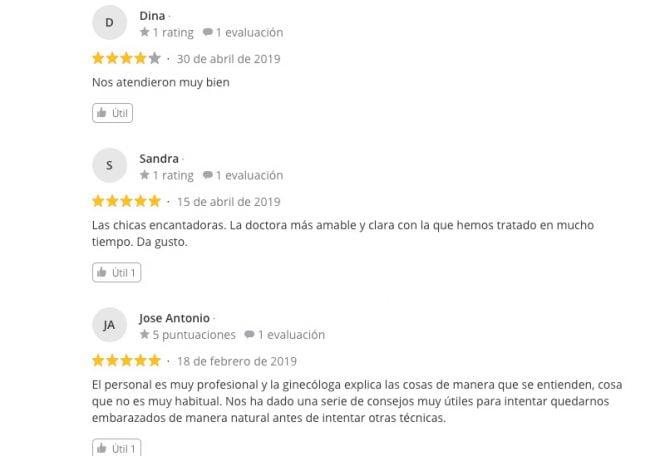 Imagen: Comentarios sobre iGin Santander