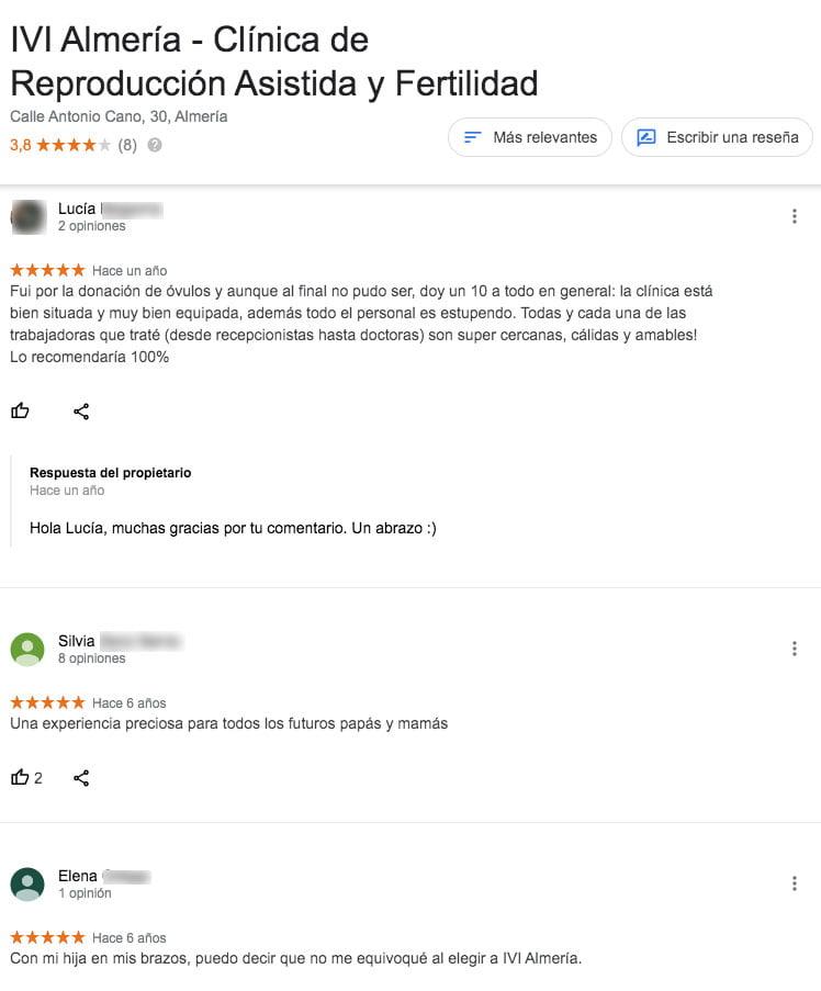 Comentarios de IVI Almería