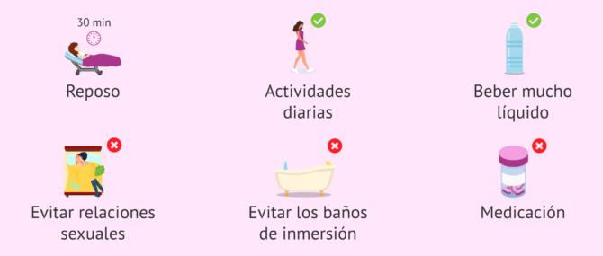 Imagen: Beber agua tras la transferencia