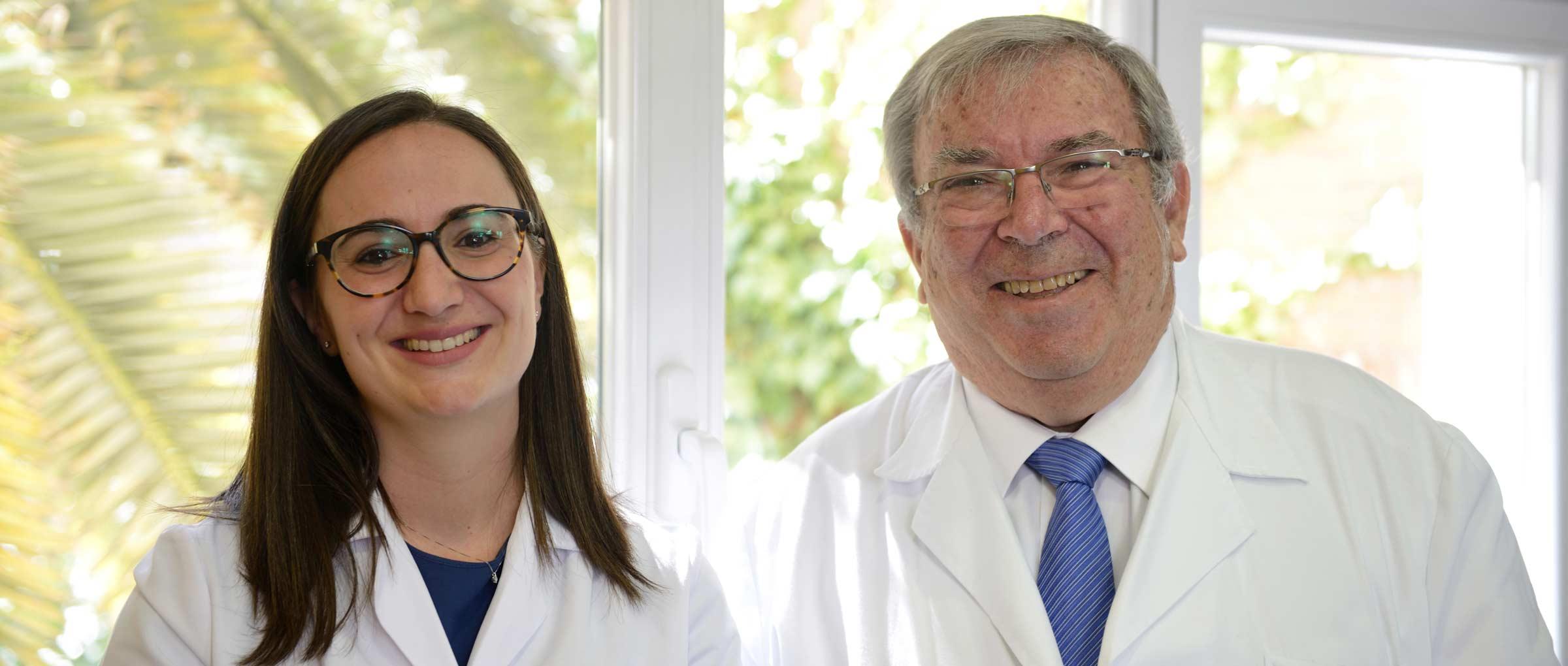 El Dr. Pedro Caballero con la Dra. Laura García