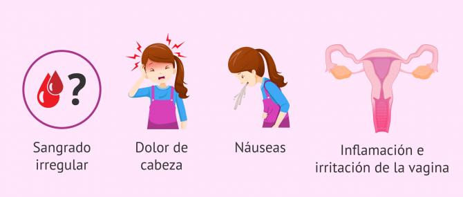Imagen: Efectos secundarios del uso del anillo vaginal