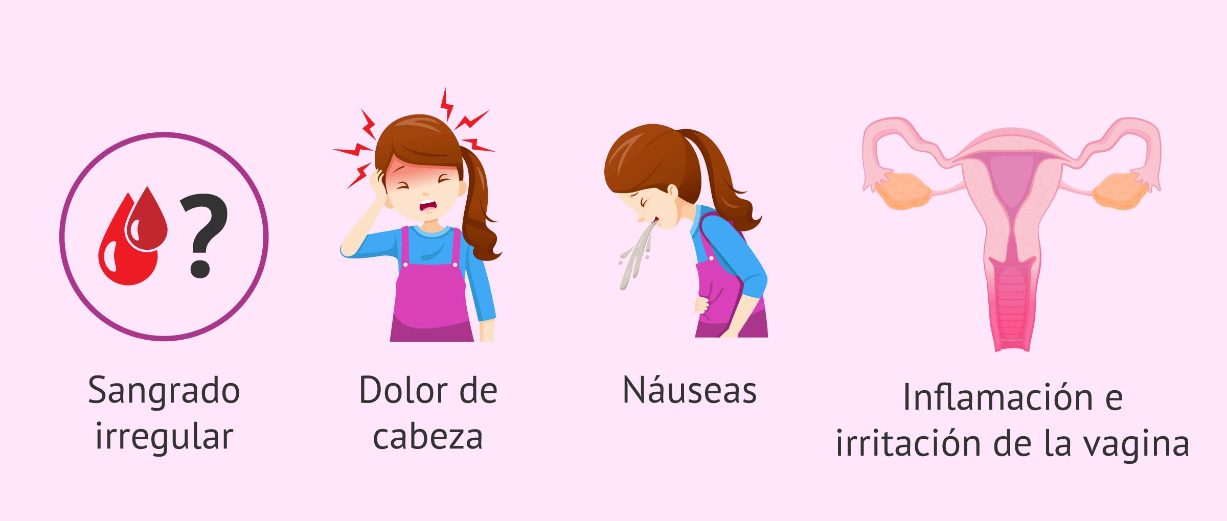 Efectos secundarios del uso del anillo vaginal