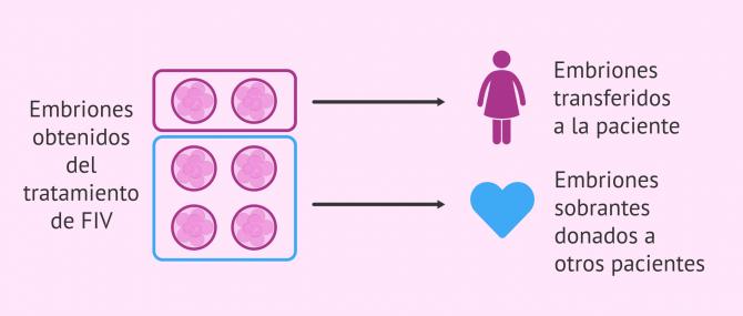 ¿Es lo mismo donación que adopción de embriones?