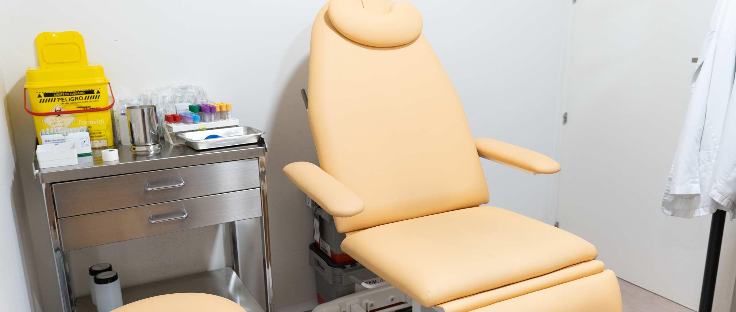 Sala de enfermería de la clínica Tambre