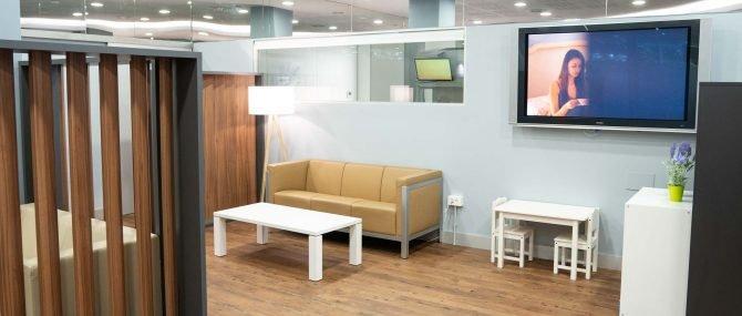 Imagen: Sala de espera para niños IVF Donostia