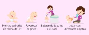 Estimular la motricidad de los bebés