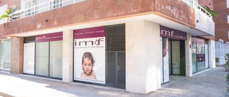Imagen: Exterior de la clínica IMF Barcelona