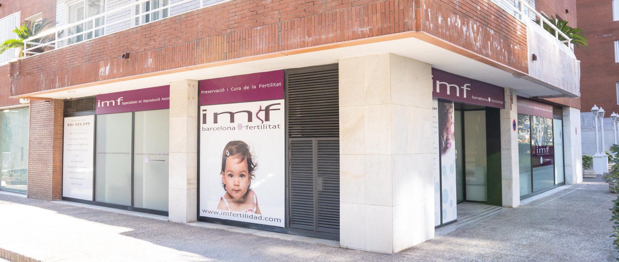 Exterior de la clínica IMF Barcelona