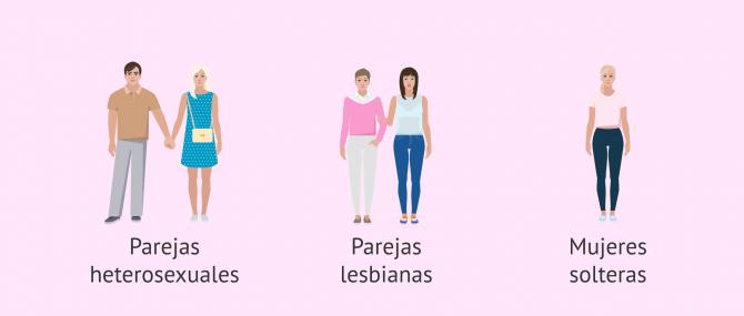 Imagen: Tipos de familias que tienen acceso a los tratamientos de fertilidad por la Seguridad Social