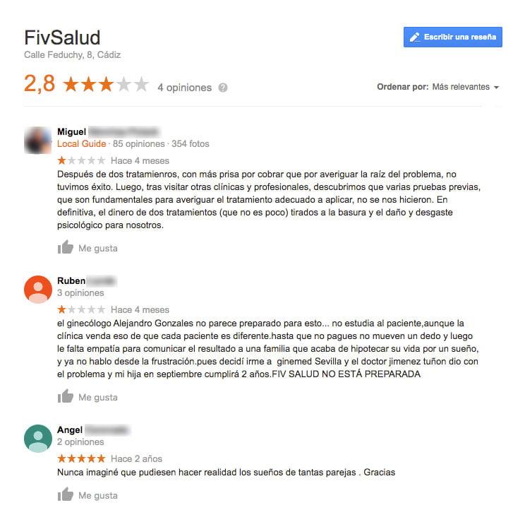 Comentarios FivSalud