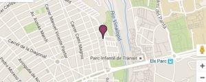 mapa Instituto Bernabeu Elche
