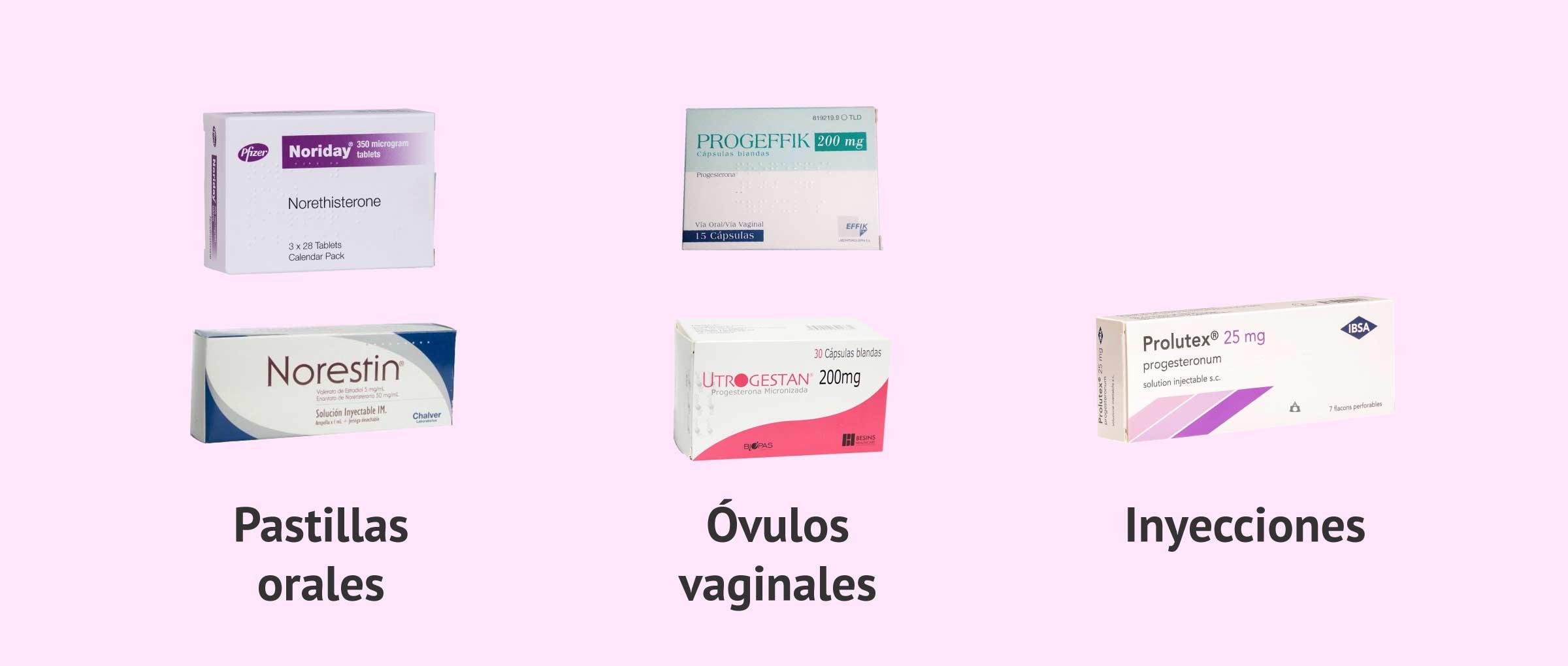 Medicamentos con progesterona