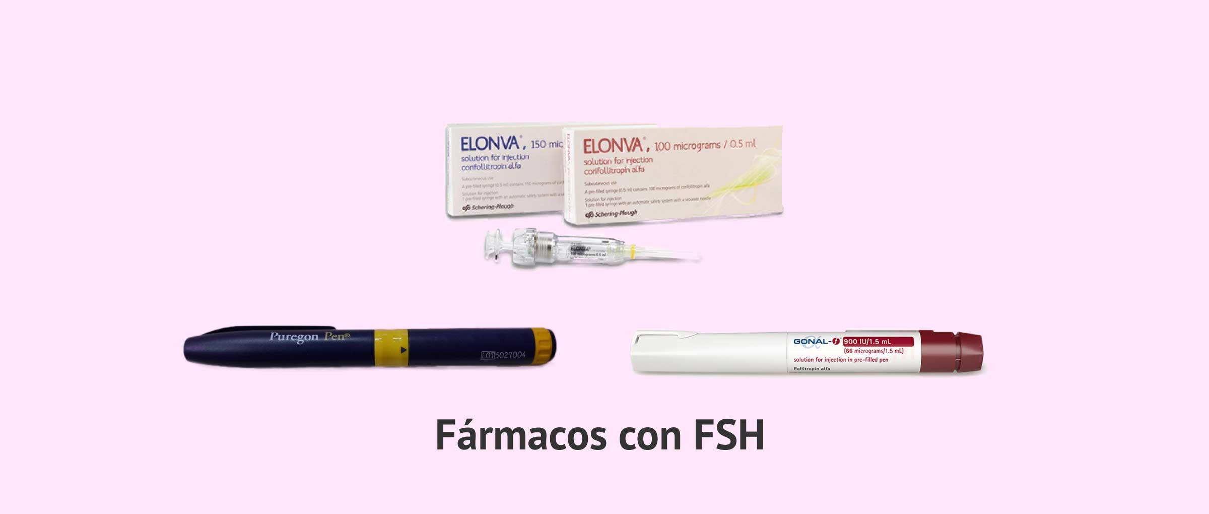Fármacos que contienen hormona FSH