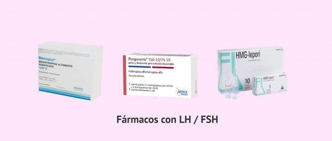 Imagen: Fármacos que contienen hormona LH y FSH