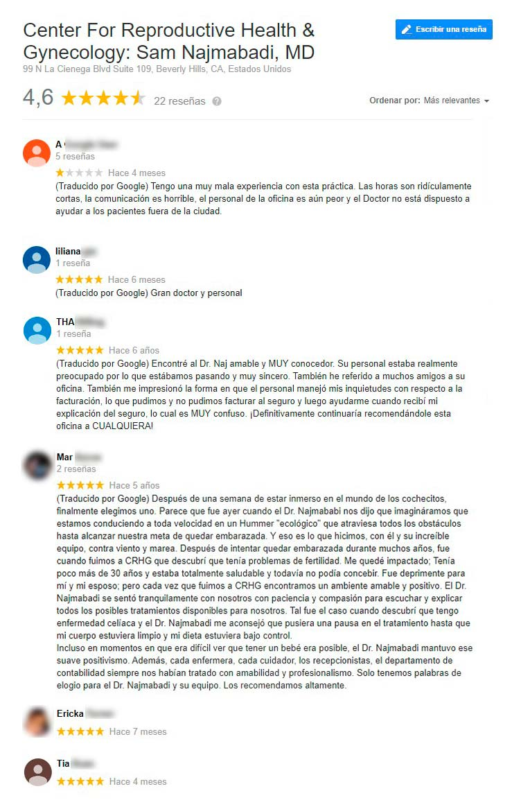 Opiniones  de Center for Reproductive Health & Gynecology