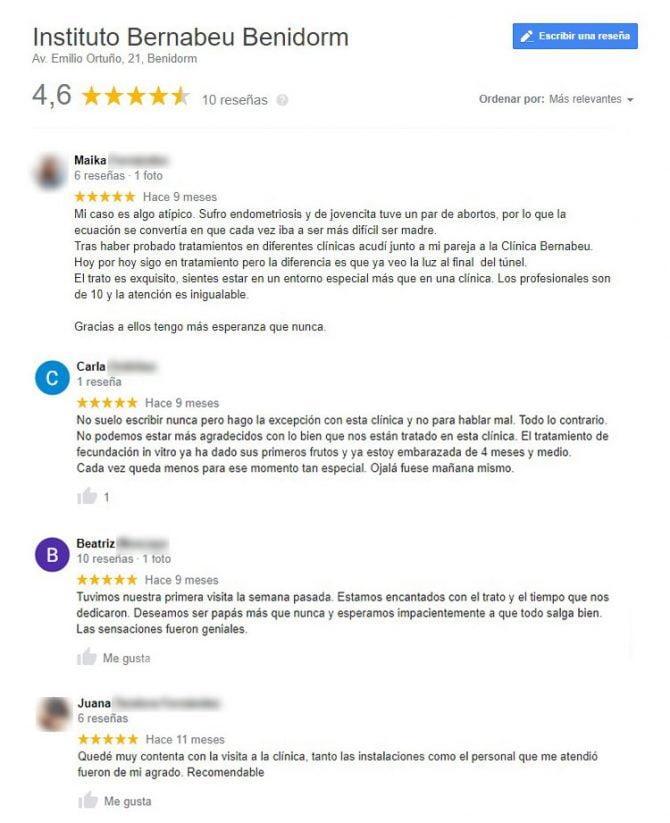 Imagen: Opiniones sobre Instituto Bernabeu Benidorm