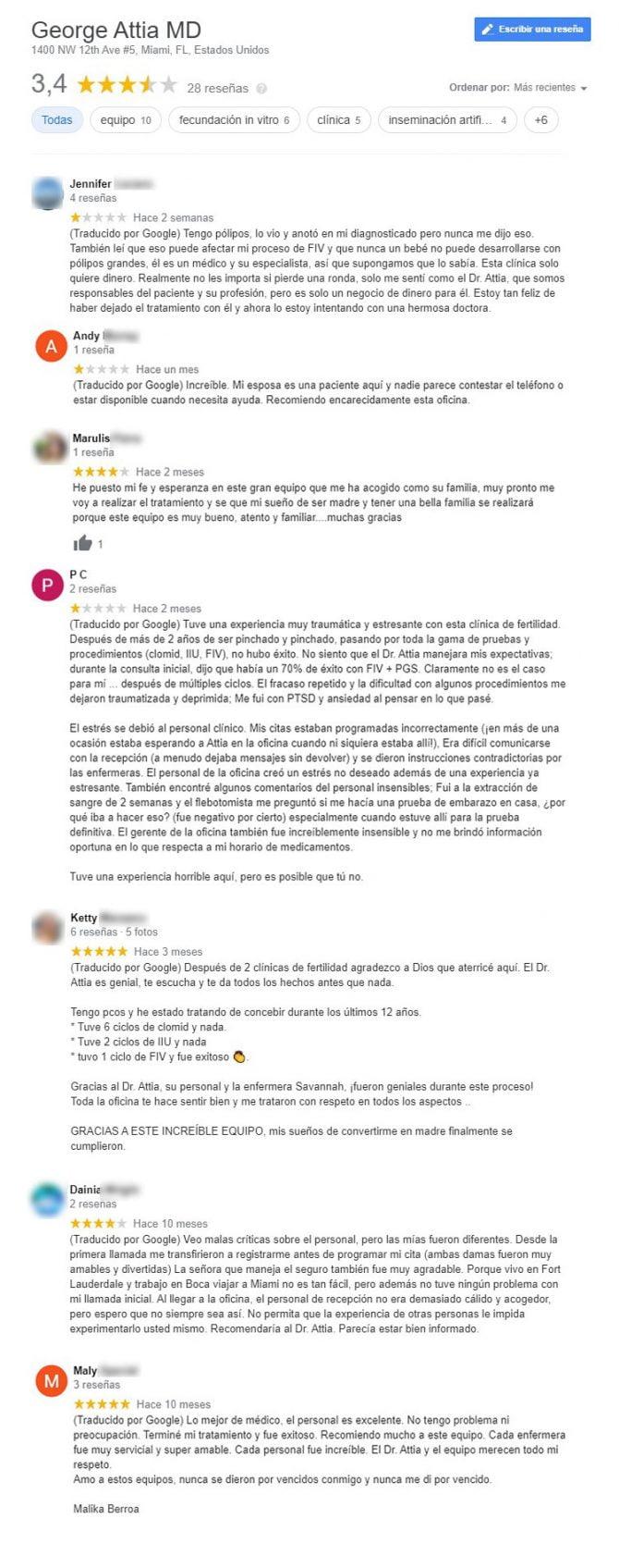 Imagen: Opiniones sobre University of Miami Fertility Center