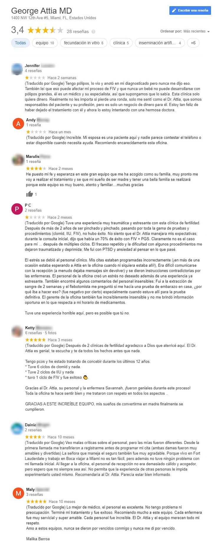 Opiniones sobre University of Miami Fertility Center