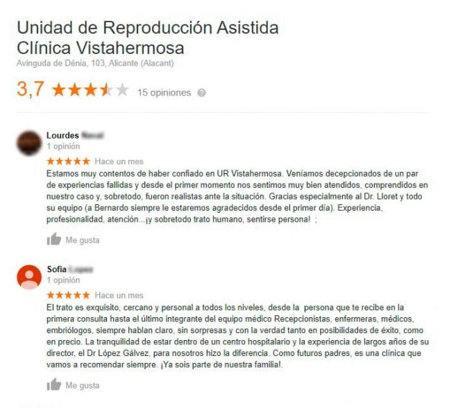 Imagen: Opiniones de la UR Vistahermosa