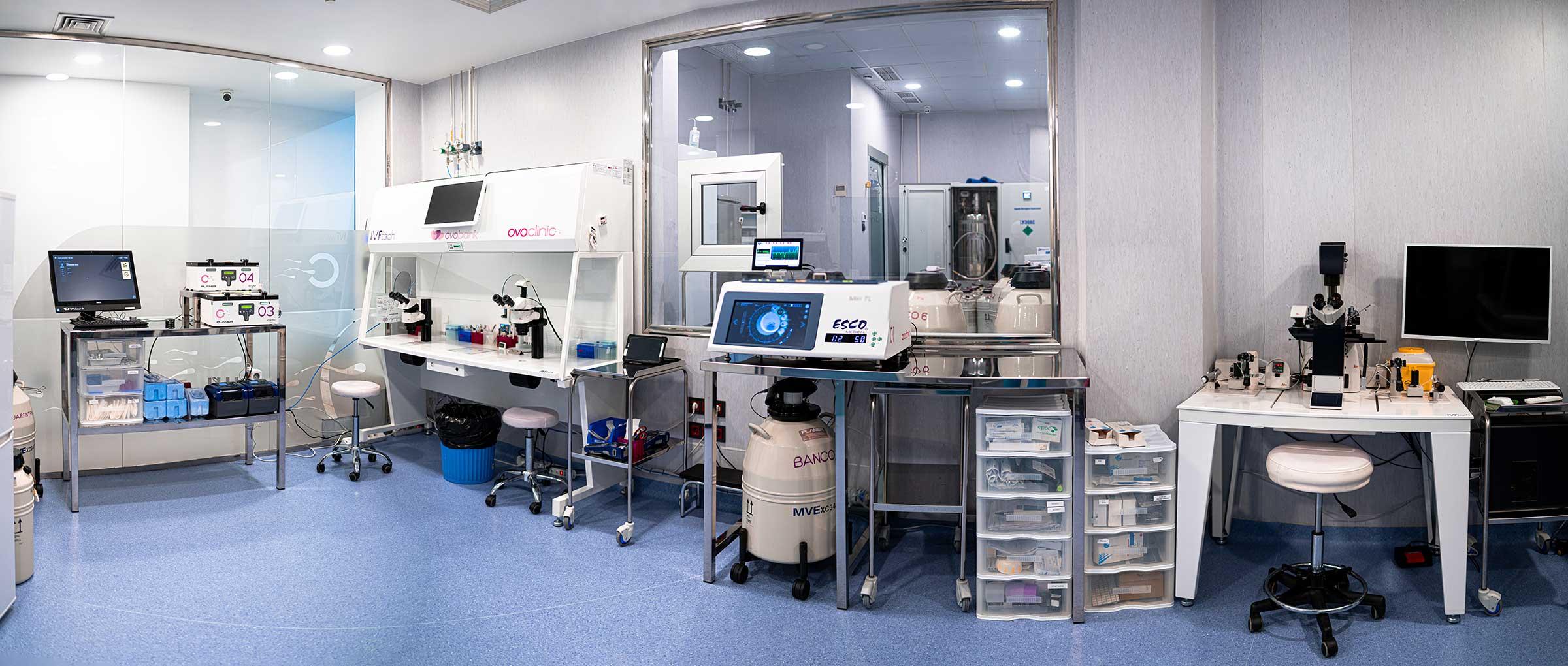 Laboratorio de Ovoclinic Marbella