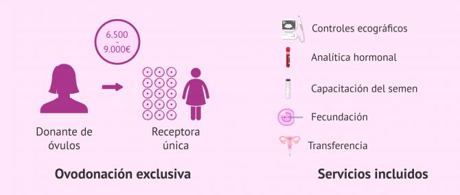 Imagen: Servicios incluidos en el coste de la ovodonación exclusiva