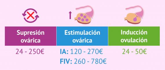 Imagen: Precio medio de la medicación en reproducción asistida