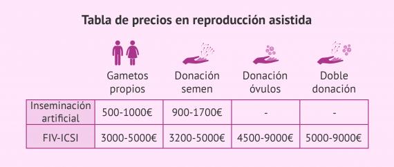 ¿Cuánto cuesta un tratamiento de reproducción asistida?