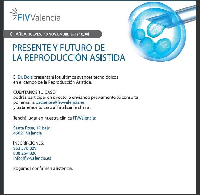 Nueva charla en FIV Valencia de la mano del DR.Dolz