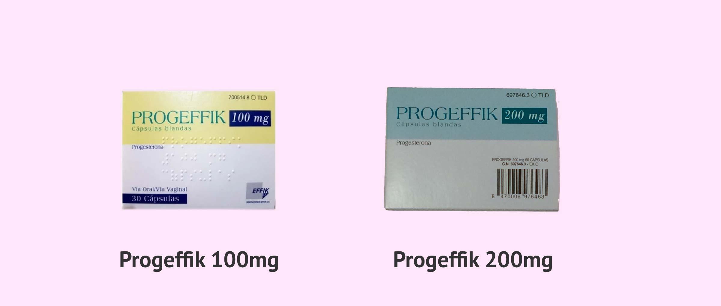 Progeffik 100 mg y Progeffik 200 mg
