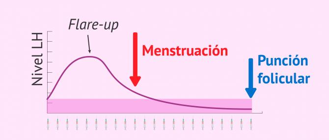 Imagen: Protocolo largo de estimulación ovárica con Procrin