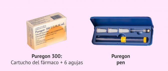 Imagen: Puregon 300 e inyector Puregon Pen