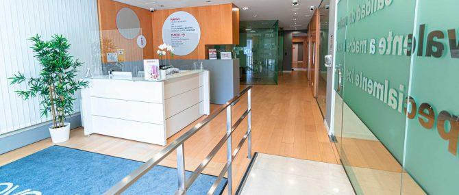 Imagen: Recepción de Ovoclinic Madrid