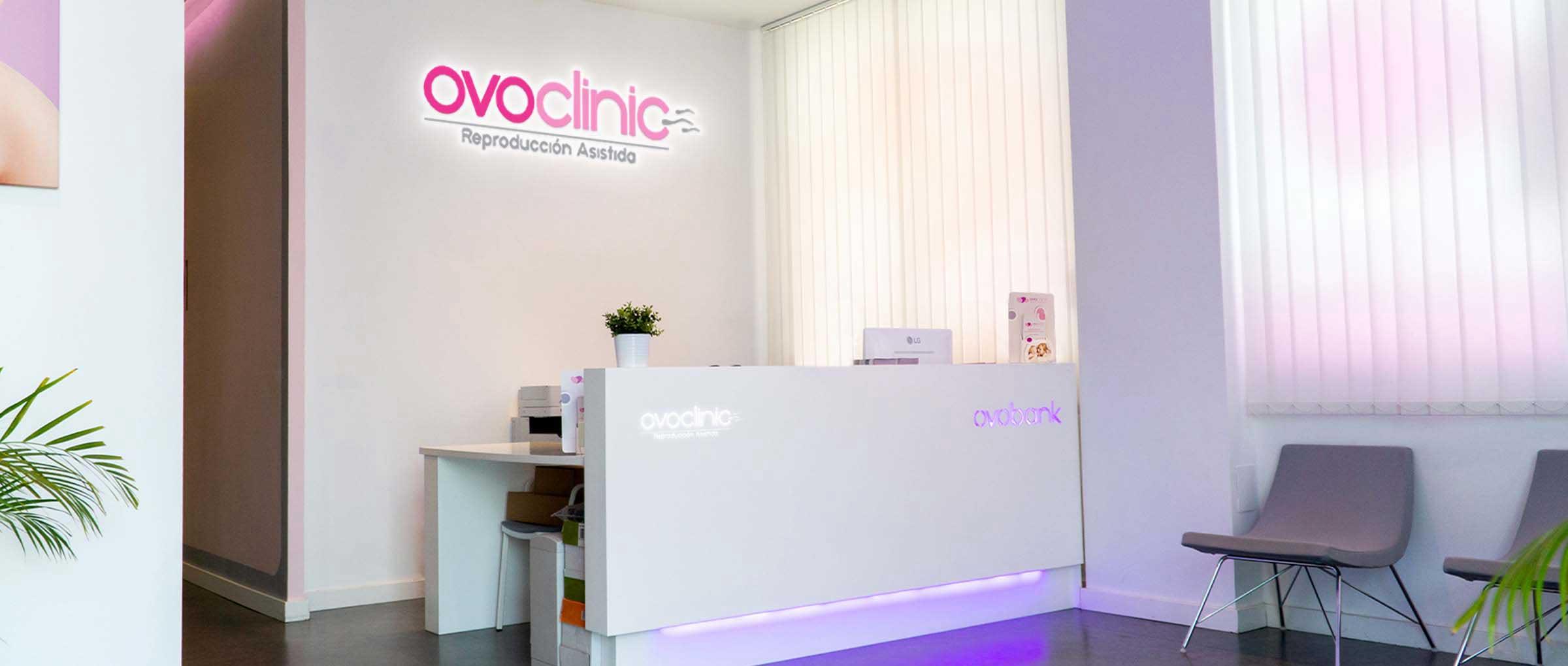 Recepción de Ovoclinic Málaga