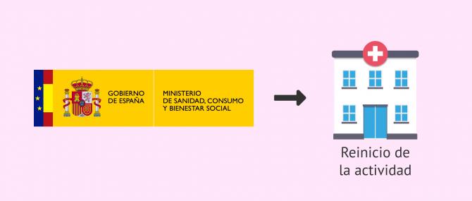 Imagen: Autorización del reinicio de la actividad en reproducción asistida