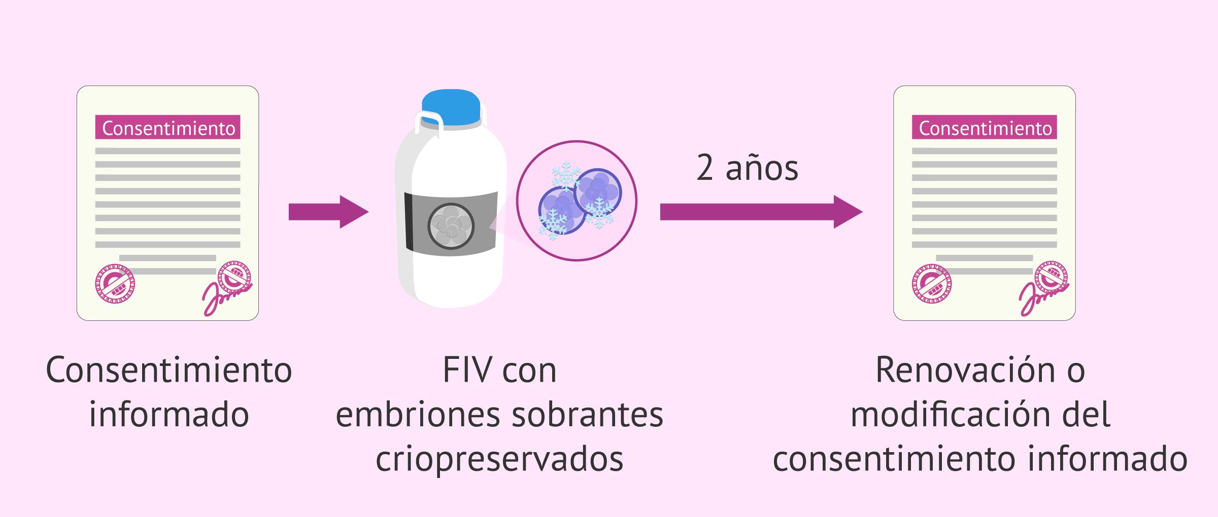 Consentimiento informado sobre el destino de los embriones sobrantes