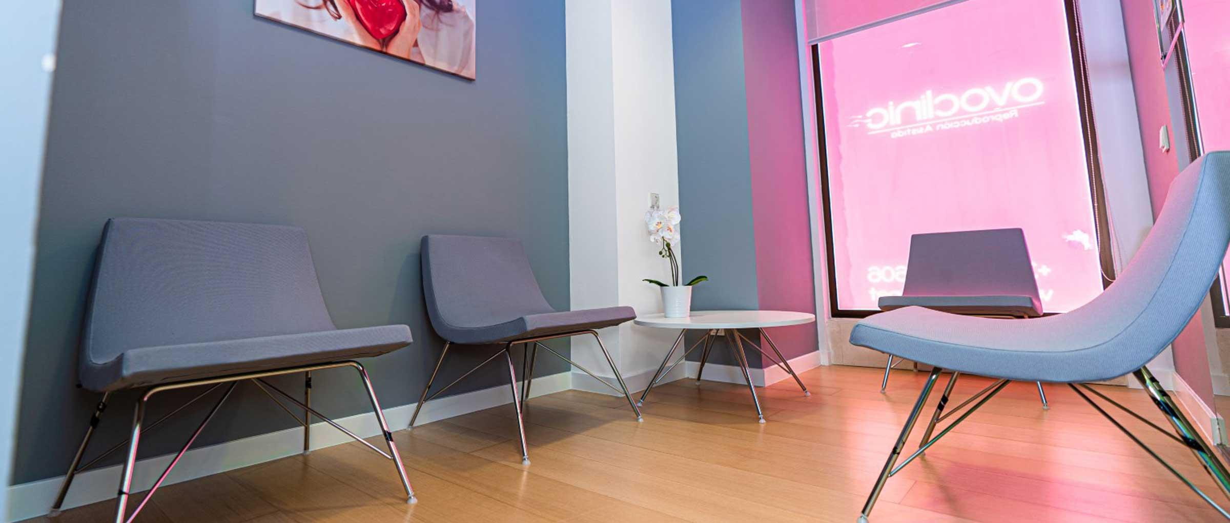 Sala de espera para donantes de gametos